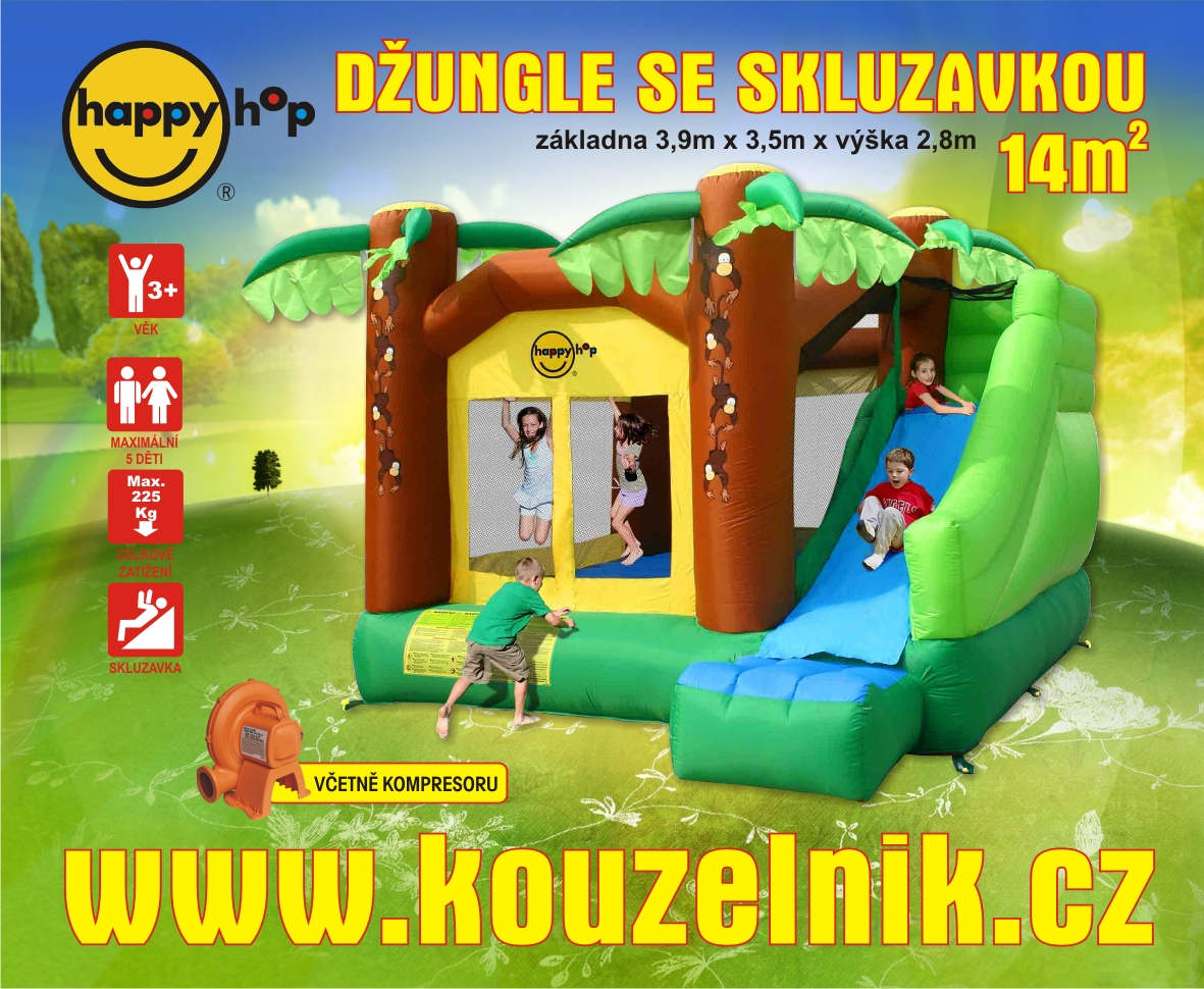 Happy Hop Bouncy House, Jungle Climb and slide